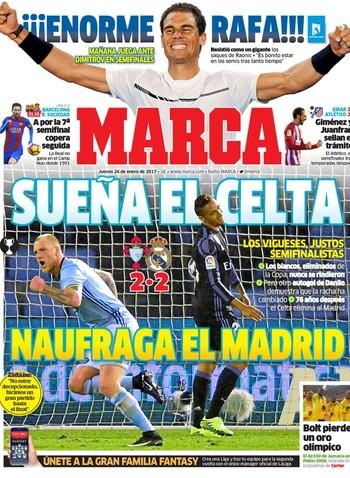 cfeb4d8204 Jornais de Madri apontam os culpados por eliminação do Real na Copa do Rei