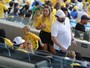Filho de Neymar, Davi Lucca torce pelo pai no Maracanã, no Rio