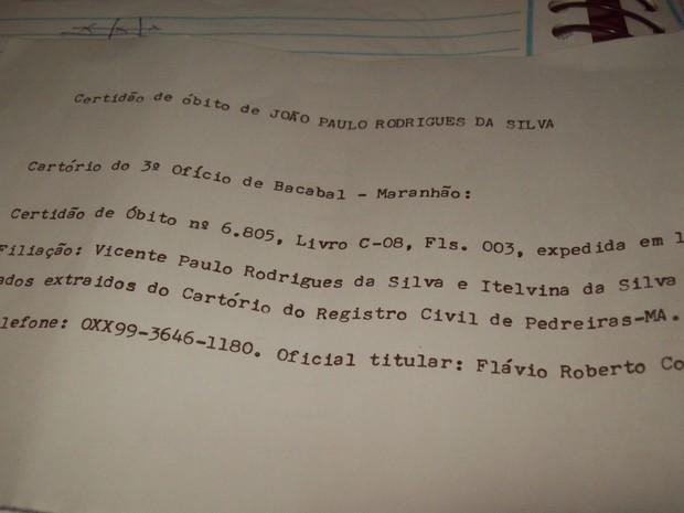 Rodrigues descobriu que estava 'morto' quando foi juntar os documentos para se aposentar (Foto: Marileide Carvalho/Arquivo pessoal)