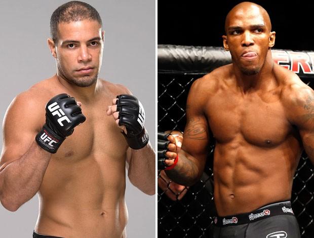 Montagem UFC - Thales Leites e Francis Carmont (Foto: Editoria de arte)
