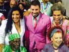 De rosa, Cauã tieta bambas e rejeita 'muso' (Thiago Brandão/G1)