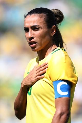 Marta Brasil x  Suecia futebol feminino (Foto: AFP)