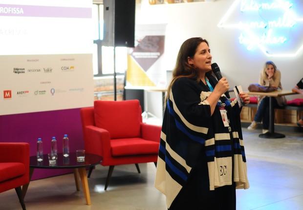 Elena Crescia, curadora e organizadora do TEDxSãoPaulo, durante o Festival de Cultura Empreendedora (Foto: Rafael Jota/Editora Globo)