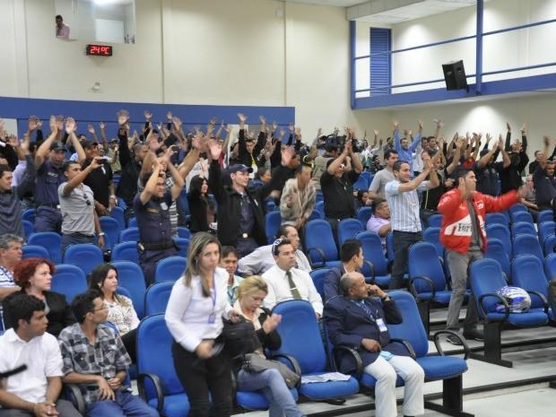 Câmara de Campo Grande aprova uso de arma a guardas municipais (Foto: Gabriela Pavão/G1 MS)