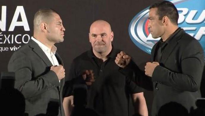 UFC Dana White Cain Velasquez e Fabricio Werdum (Foto: Reprodução / Twitter)