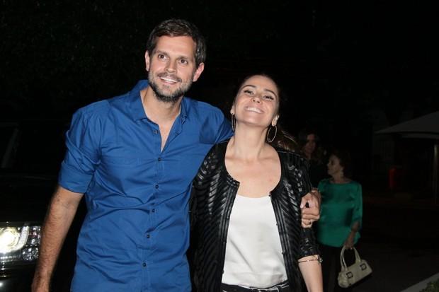 Giovanna Antonelli e marido, Leonardo Nogueira, no aniversário da atriz no Rio (Foto: Delson Silva/ Ag. News)