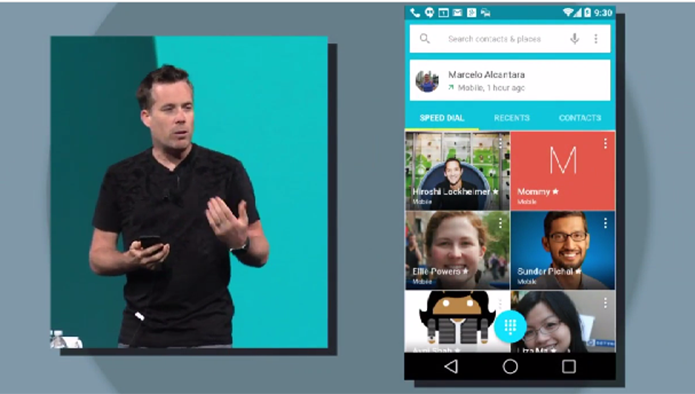 Nova interface do Android L ficou mais minimalista e leve (Foto: Reprodução/Google)