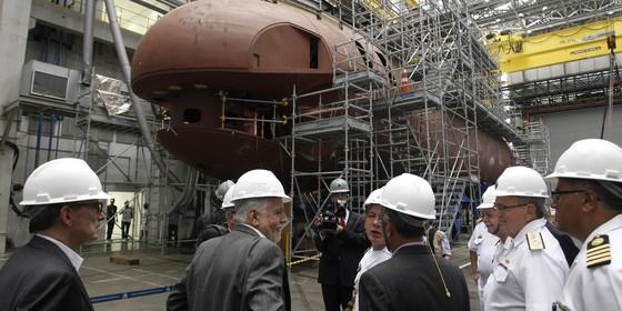 as instalações do PROSUB ( Programa de desenvolvimento de submarinos ) em Itaguaí.  (Foto: Gabriel de Paiva/ Agência O Globo)