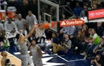 Jogada acrobática e enterradas enchem o Top 10 da última rodada da NBA