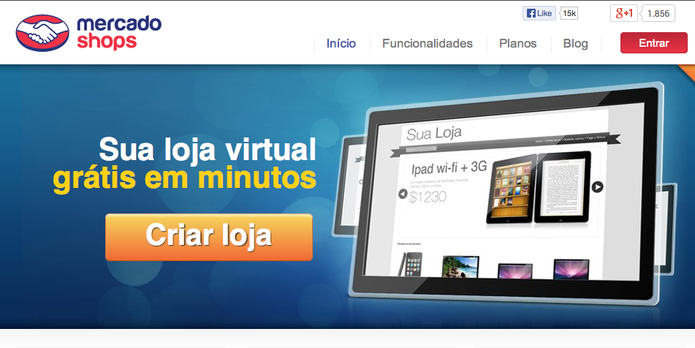 MercadoShops, serviço cria lojas virtuais no Mercado Livre (Foto: Reprodução/Mercado Livre)
