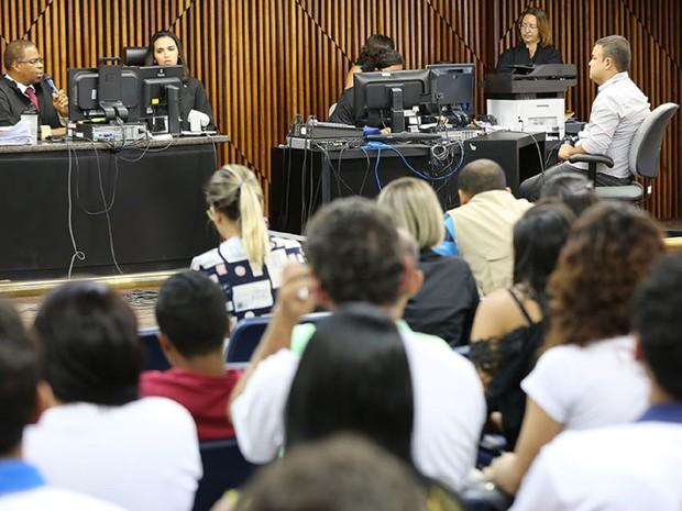 Judarley Leite de Oliveira presta depoimento  (Foto: Caio Loureiro/TJ-AL)