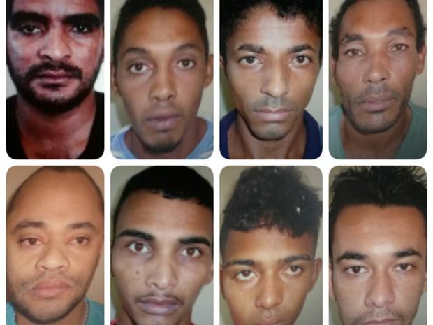 Foragidos da Cadeia de Belém do São Francisco, PE (Foto: Divulgação / 7º CIPM)