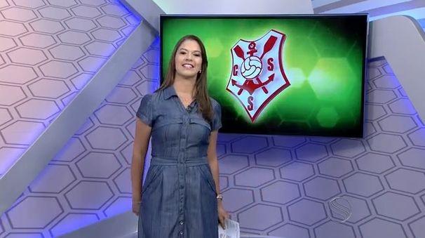 Tâmara Oliveira, apresenta o GE local (Foto: Divulgação/TV Sergipe)
