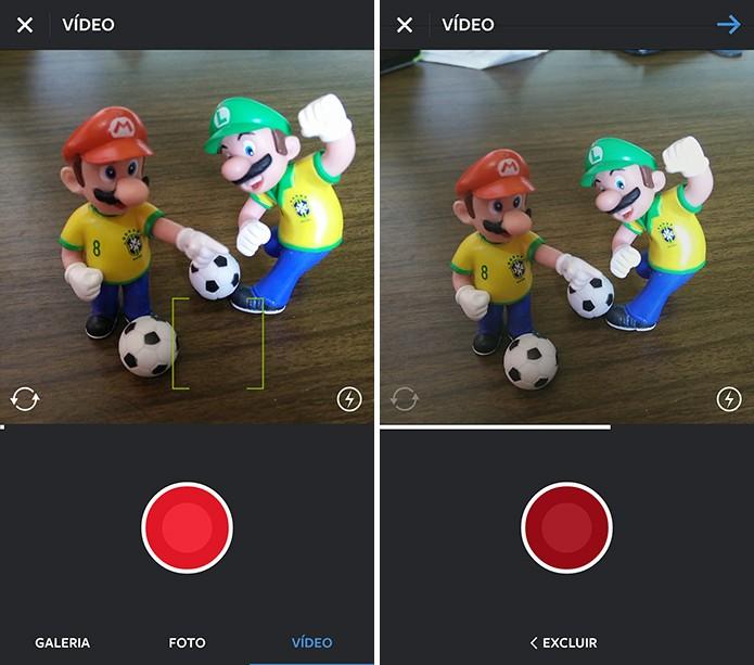 Instagram pode gravar vídeos de até 15 segundos antes de compartilhar na rede (Foto: Reprodução/Elson de Souza)