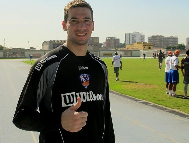 Welligton, goleiro do Duque de Caxias  (Foto: Thales Soares / Globoesporte.com)