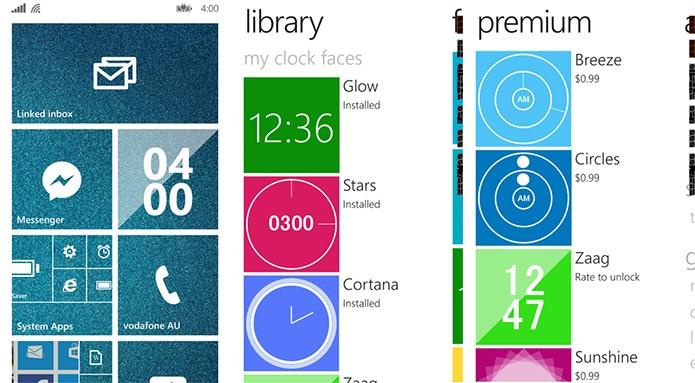 Live Tile Clock é um galeria completa de relógios para a tela inicial do Windows Phone (Foto: Divulgação/Windows Phone Store)
