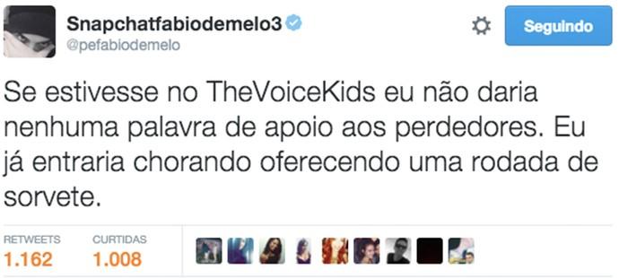 Padre Fábio de Melo mostrou que também é fã do The Voice Kids em rede social (Foto: Reprodução)