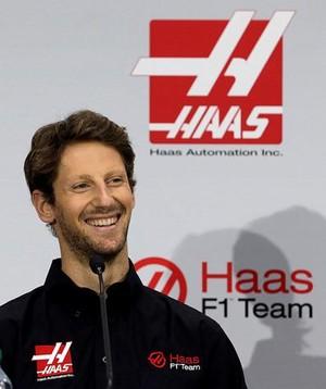 Romain Grosjean anúncio Haas Fórmula 1  (Foto: Reprodução/Twitter)