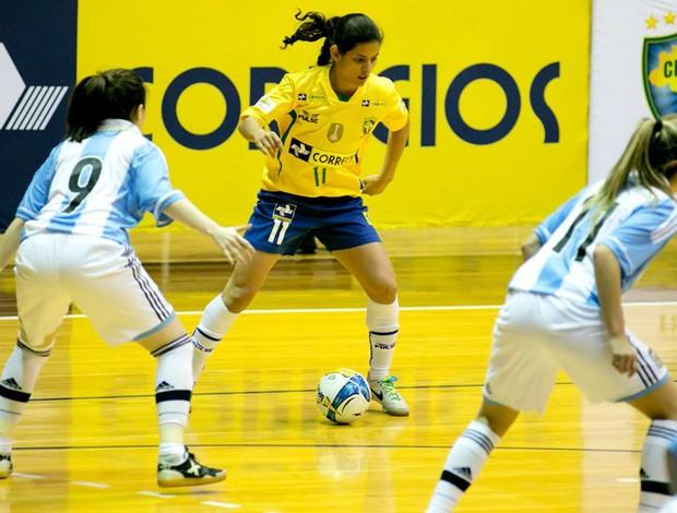 Brasil e Argentina Futsal Feminino (Foto: Reprodução / Facebook)