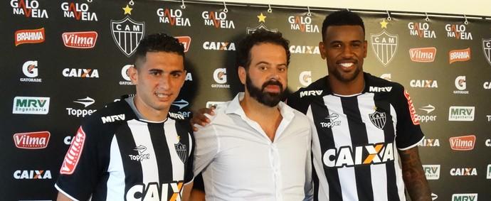 Danilo, Daniel Nepomuceno e Felipe Santana, do Atlético-MG (Foto: Fernando Martins Y Miguel)