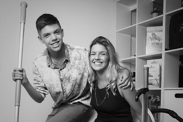 Lilian Esteves, fundadora da house shine, e seu filho Lucas (Foto: Fabiano Accorsi / Editora Globo)