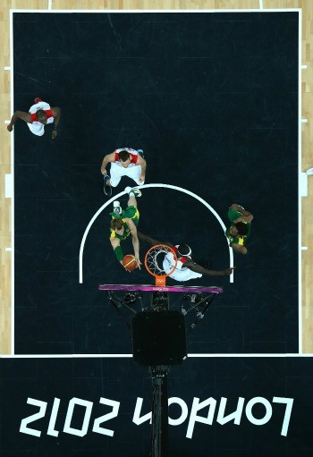 Basquete Brasil x Gr&#227;-Bretanha Tiago Splitter (Foto: Getty Images)
