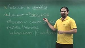 Maurício Araújo, professor de português e literatura do Instituto Henfil (Foto: Reprodução)