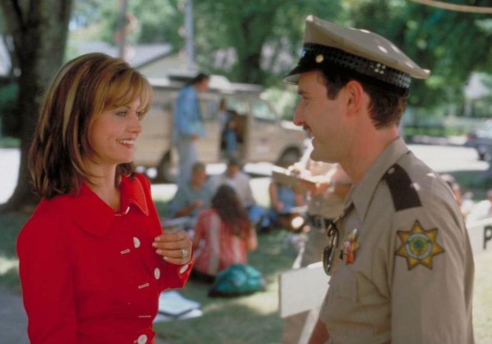 'Pânico'! Foi nesse filme de 1996 que Courteney Cox e David Arquette se apaixonaram. Começaram a namorar oficialmente no ano seguinte, se casaram em 1999, tiveram uma filha em 2004 e se divorciaram de 2012 para 2013. São muito amigos até hoje. (Foto: Reprodução)