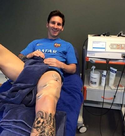 Lionel Messi fisioterapia (Foto: Reprodução)