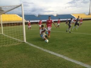 Ricanato vence o Taquarussú de goleada no estádio Nilton Santos (Foto: Edson Reis/GloboEsporte.com)