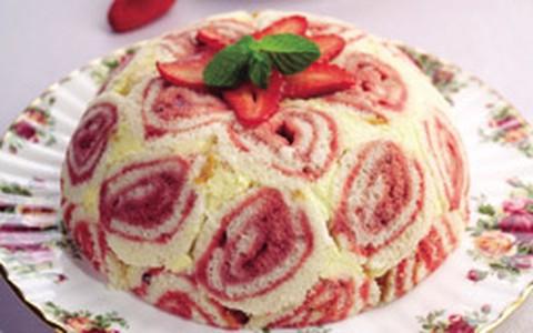 Zuccotto de frutas vermelhas