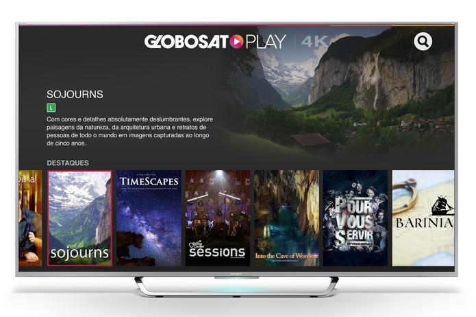 Aplicativo 4K está disponível apenas para TVs 4K da Sony (Foto: Divulgação/Sony)