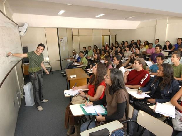 Sala de aula do Curso Preparatório de Concurso de Juiz de Fora (Foto: Prefeitura de Juiz de Fora/Divulgação)