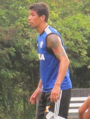 Flamengo treino Cáceres  (Foto: Thales Soares)