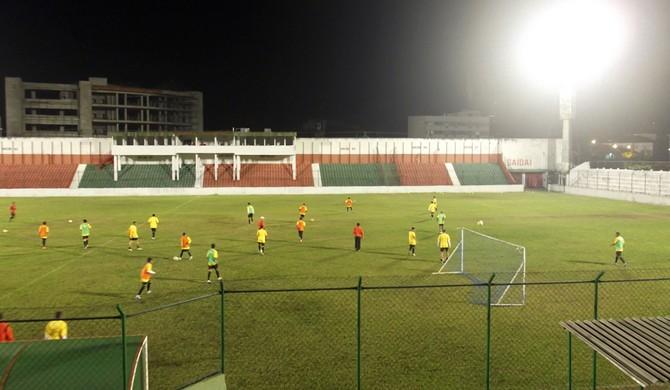 Ulrico Mursa estádio Portuguesa Santista Briosa treino (Foto: Divulgação / Tática Assessoria)