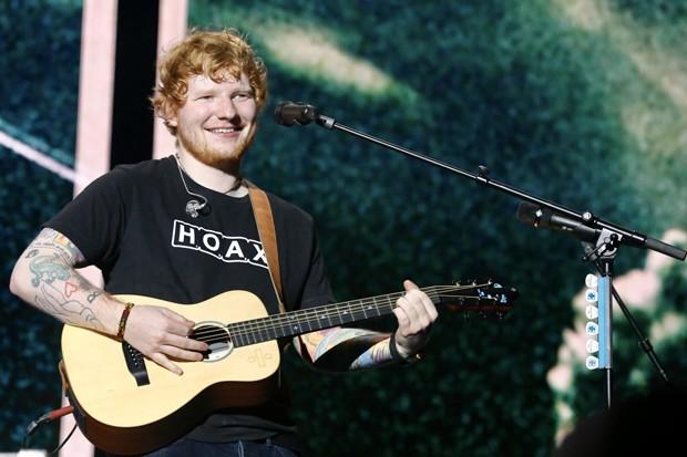Ed Sheeran se apresenta em São Paulo neste domingo (28) (Foto: Brazil News)