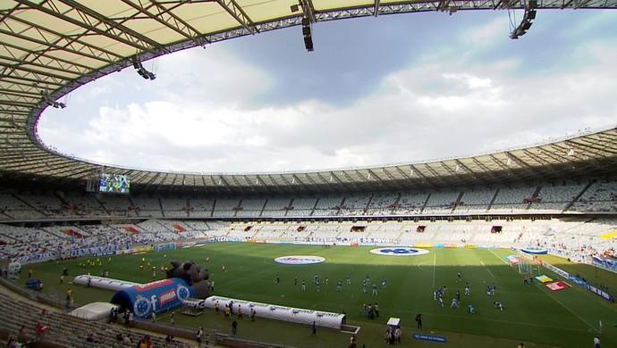 Mineirão para Cruzeiro x Guarani-MG (Foto: Reprodução / TV Globo Minas)