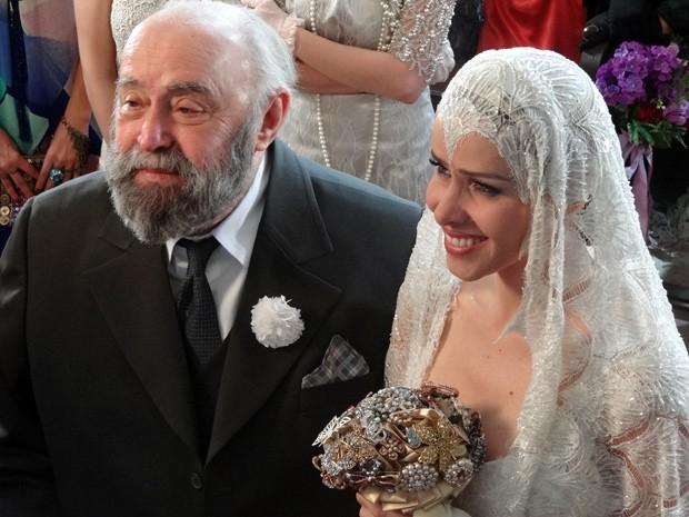 Zarolha se casa com Manoel das Onças e vira nova senhora de Ilhéus (Foto: Divulgação/TV Globo)
