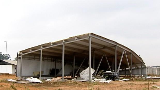 cobertura estádio corinthians (Foto: Sinclair Jr.)