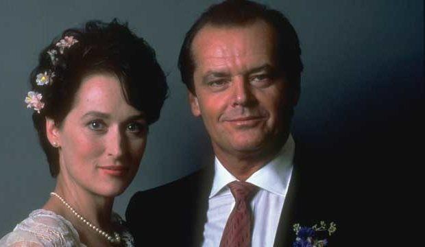 Meryl Streep e Jack Nicholson no set do filme A difícil arte de amar (1986): eles são os recordistas de indicações ao Oscar da História  (Foto: Reprodução)