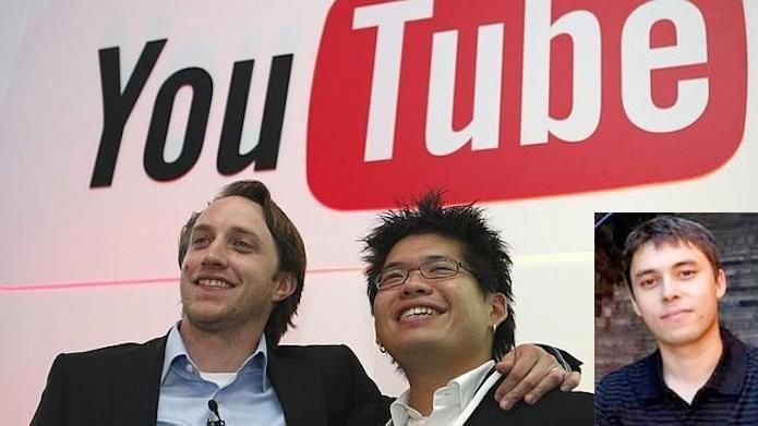 O criadores do YouTube: Chad Hurley,  Steve Chen e Jawed Karim (Foto: Montagem/Edivaldo Brito)