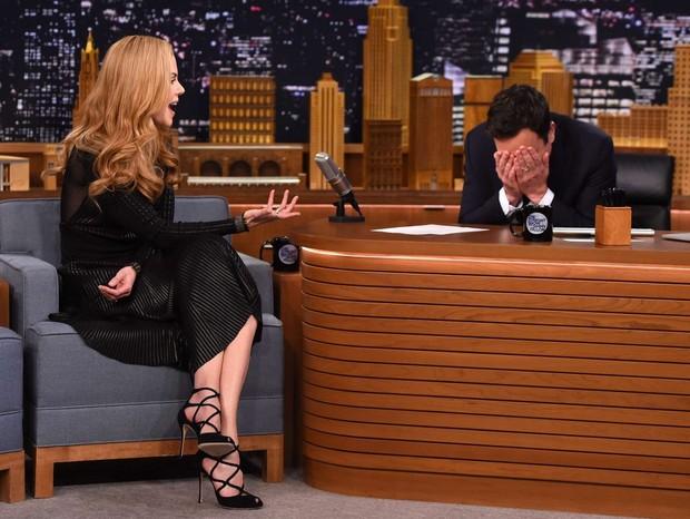 Nicole Kidman e Jimmy Fallon no Tonight Show (Foto: reprodução/instagram)