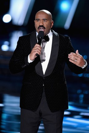 Steve Harvey no Miss Universo em Las Vegas, nos Estados Unidos (Foto: Ethan Miller/ Getty Images/ AFP)