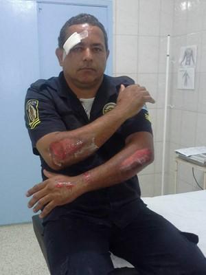Guarda foi arrastado em avenida de Mongaguá (Foto: Jurandir Felix/Arquivo Pessoal)