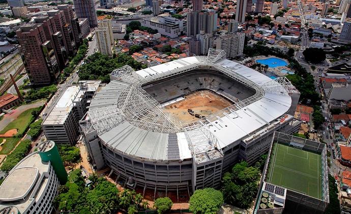 obras  Arena Palmeiras Allianz Parque (Foto: Divulgação / WTorre)