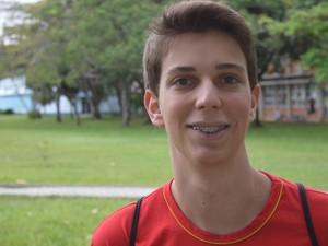 Pedro está otimista com a aprovação no vestibular de medicina (Foto: Mariana Carvalho/ G1)