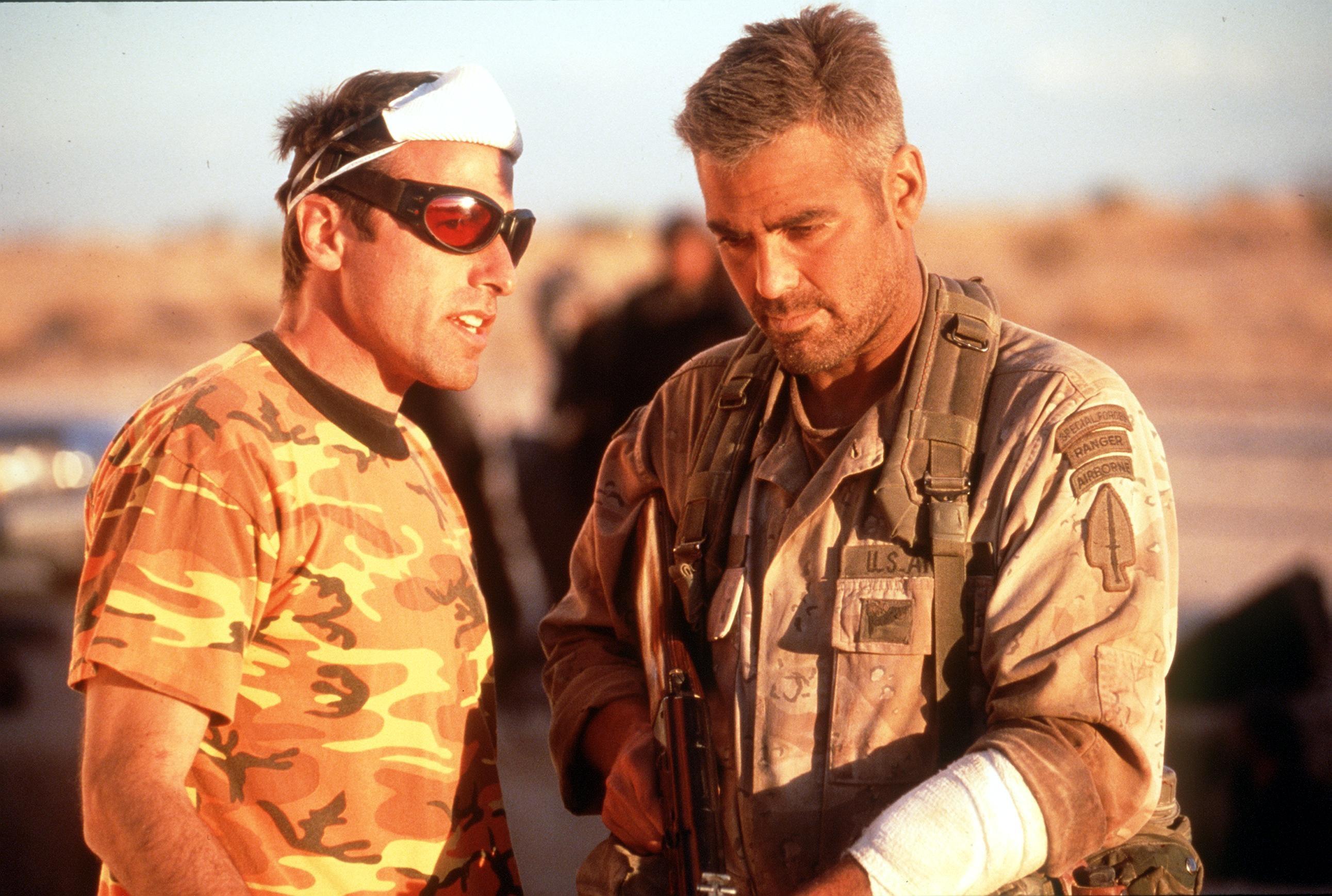 David O. Russell e George Clooney em 'Três Reis' (1999) (Foto: Divulgação)