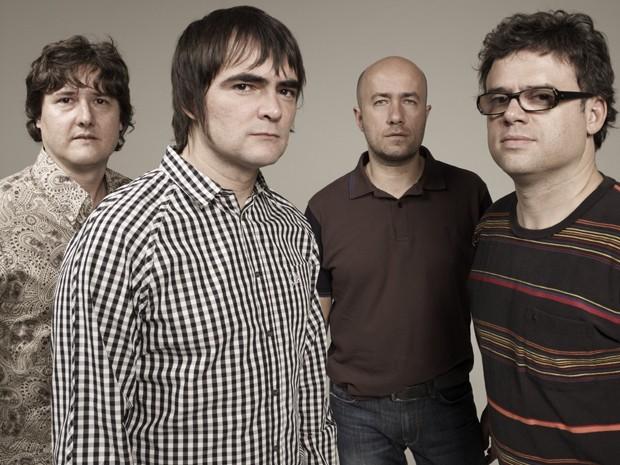 Skank hoje, com a mesma formação: Lelo, Samuel, Haroldo e Henrique (Foto: Divulgação/Weber Pádua)