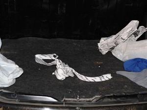 """Pastor disse que os """"sequestradores"""" teriam amarrado suas mãos com a gravata (Foto: Rádio Catarinense/Divulgação)"""