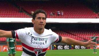O gol de São Paulo 1 x 0 Palmeiras pela 4ª rodada do Campeonato Brasileiro